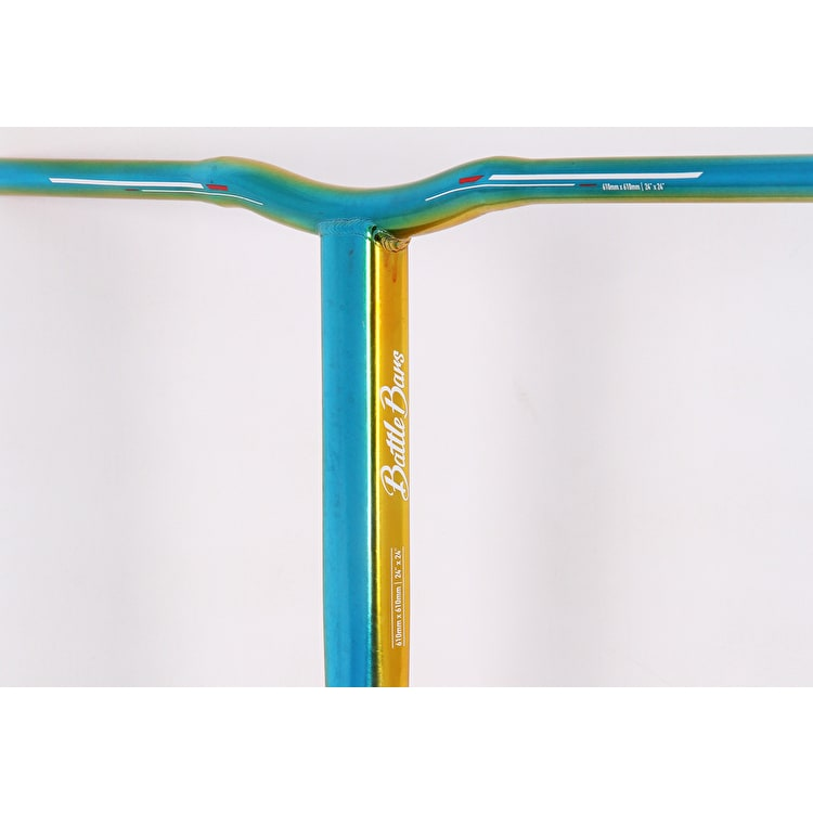 Grit Battle SCS Scooter Handle Bars - Blue/Yellow/Red 610mm