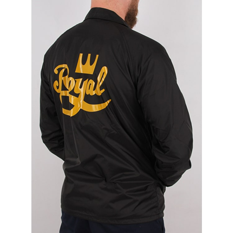 Royal Script Coaches Jacket - Black