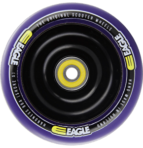 Eagle Anodized Black Full Metal Core Purple PU Wheel - 100mm