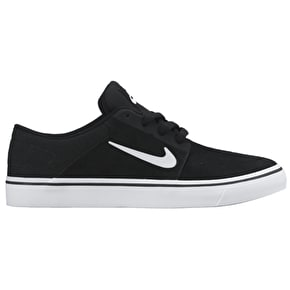Nike SB Portmore Kids Shoes - Black/White/White