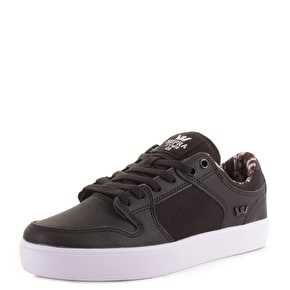 Supra Vaider LC Skate Shoes - Black/White UK 7 (B-Stock)