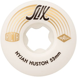 Ricta Nyjah Huston SLIX 99a Skateboard Wheels - White 53mm