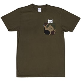 RIPNDIP Lord Nermal Pocket T Shirt - Army Camo