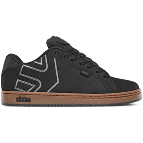 Etnies Fader Shoes - Black/Charcoal/Gum