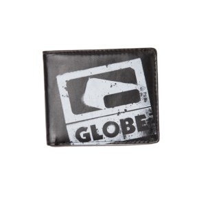 Globe Corroded Wallet - Black