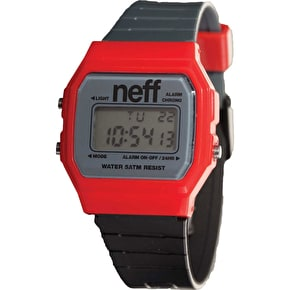 Neff Flava Watch - Red/Charcoal/Black