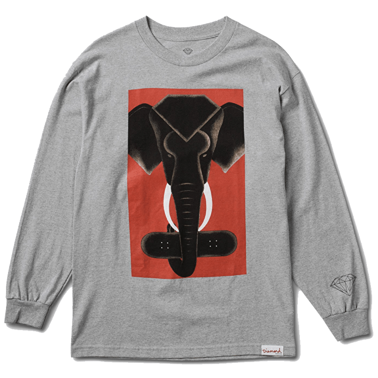 Diamond Tusk Long Sleeve T-Shirt - Heather Grey