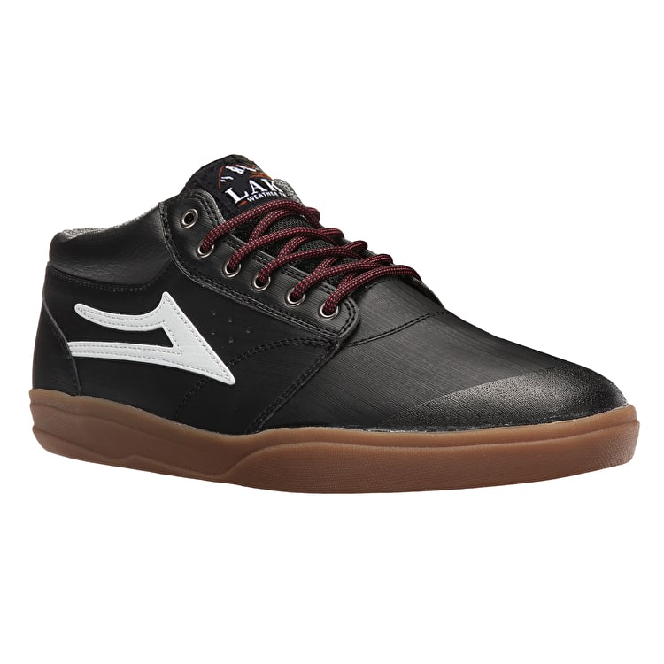 B-Stock Lakai Griffin Mid XLK Skate Shoes - Black/Gum UK 11 (Box Damage)