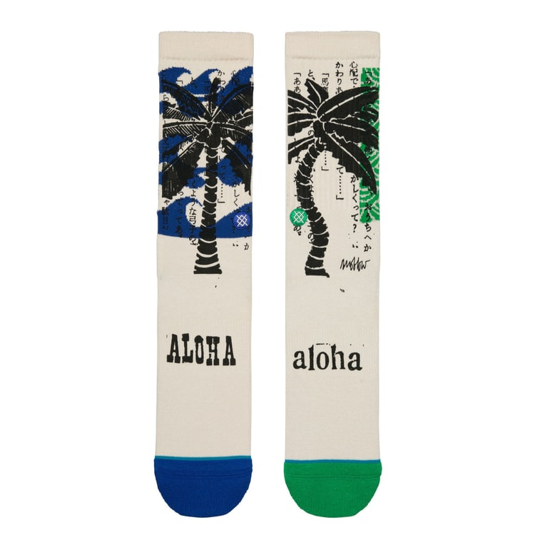 Stance Oblow Palm Socks - Natural