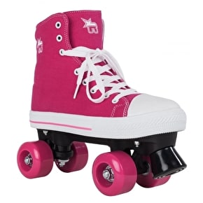 B-Stock Rookie Canvas Quad Rollerskates- Pink - UK 1 (box damage)