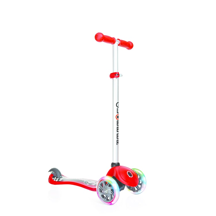 Globber My Free Primo Fantasy Lights Complete Scooter - Racing New Red