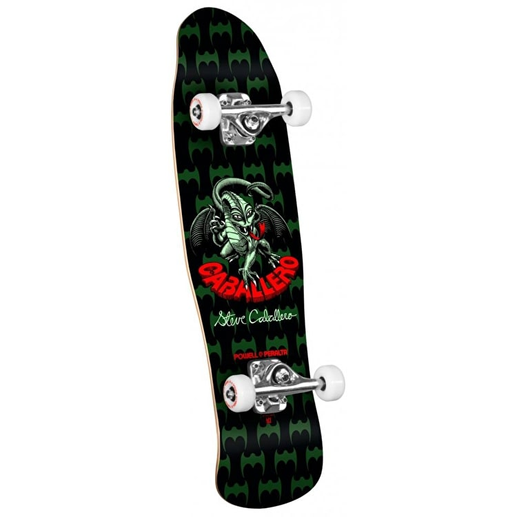 Powell Peralta Mini Skateboard - Cab Dragon II Green 8""