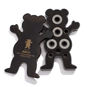 Grizzly Bear-Ings ABEC 9 Black/Black Skateboard Bearings