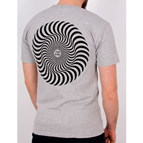 Spitfire Classic Swirl T-Shirt - Athletic Heather/Black Print