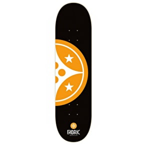 Fabric Device Half Skateboard Deck - Black/Orange 8.5