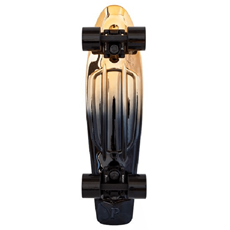 Penny Metallic Fade Complete Skateboard - Black/Gold - 22""