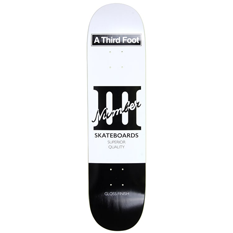 A Third Foot Playing Card Skateboard Deck - Black - 8.25""