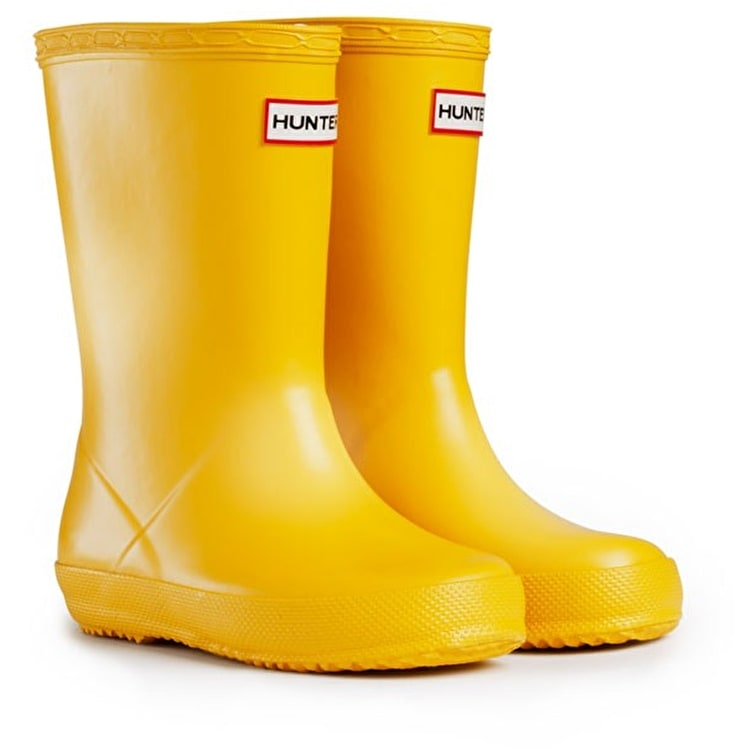 Kids Hunter First Wellington Boots Yellow