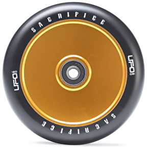 Sacrifice UFO 120mm Scooter Wheel w/Bearings - Black/Gold