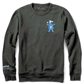 Primitive x Grizzly Bear Crewneck - Charcoal Heather