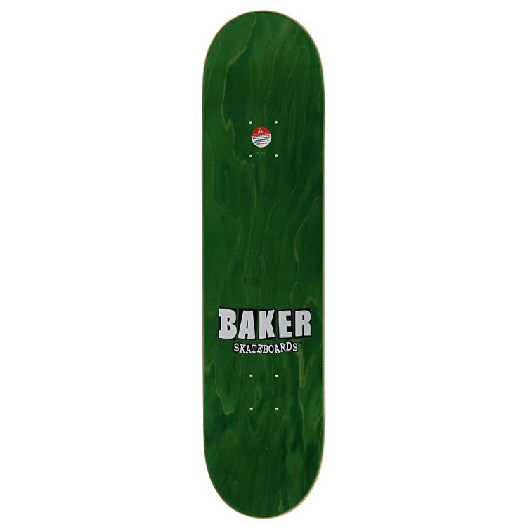 Baker Stacked Checkers Skateboard Deck - Figgy 7.75""