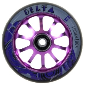 AO Delta 100mm Wheel incl Bearings - Purple
