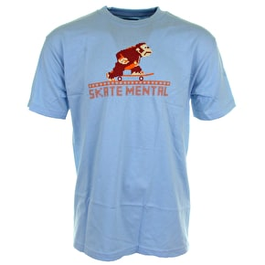 Skate Mental Monkey T-Shirt - Blue