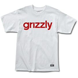 Grizzly Lowercase T-Shirt - White/Red