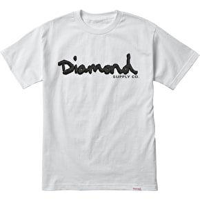 Diamond Coal OG Script T-Shirt - White