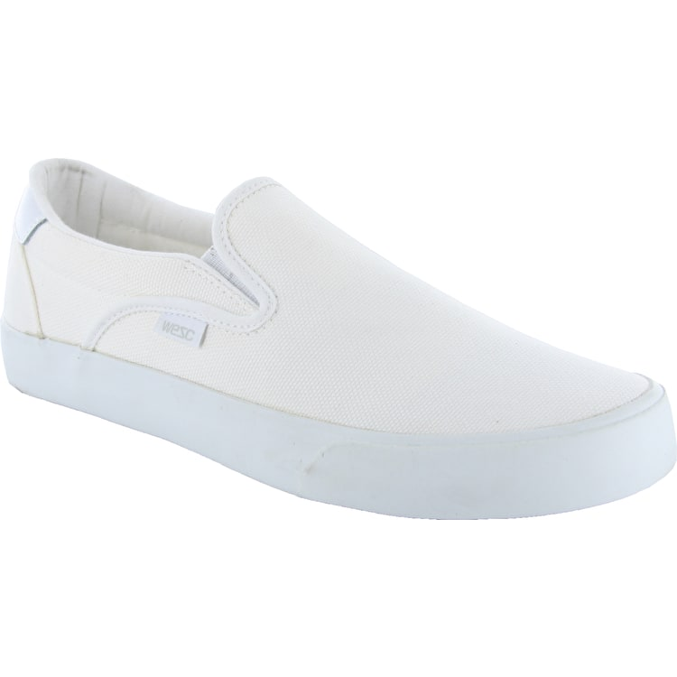 WeSC Lifestyle Luiz Shoes - White Canvas