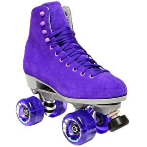 Sure-Grip Boardwalk Suede Quad Roller Skates -Jasmine Purple