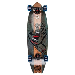 Santa Cruz Land Shark Stained Hand Complete Cruiser - Blue 32.9
