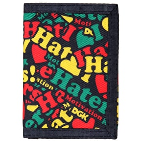 DGK Haters Collage Tri Fold Wallet - Rasta