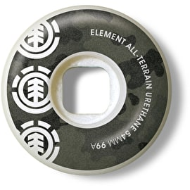 Element Bark Camo 99A Skateboard Wheels - 54mm