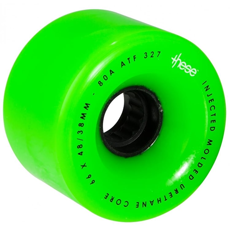 These Centreset 69mm 80A ATF 327 Longboard Wheels - Green (Pack of 4)
