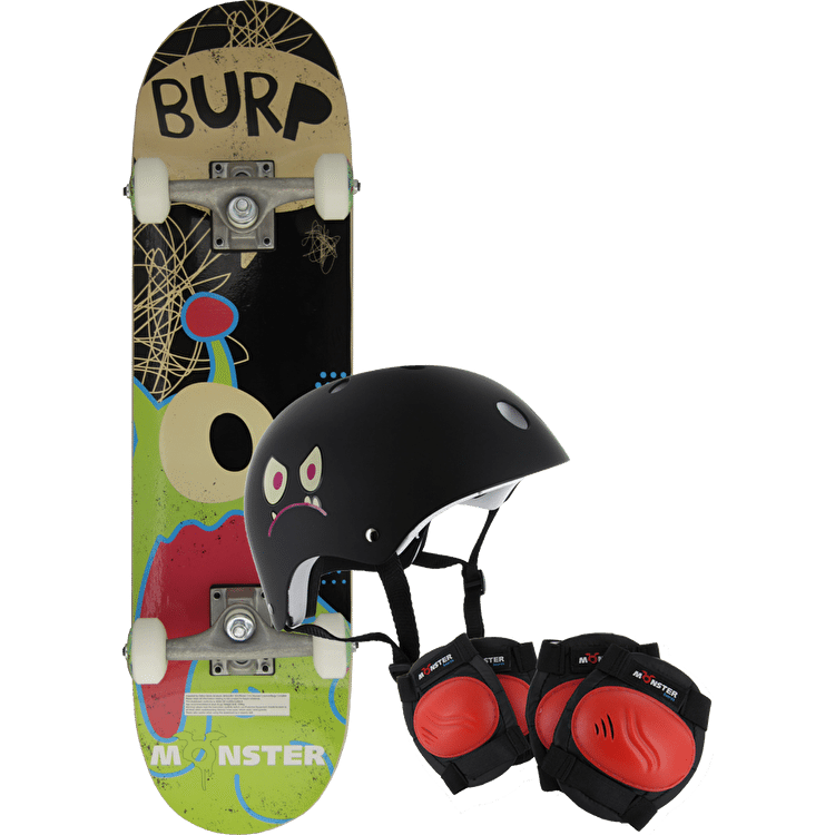 Monster Skateboard Starter Pack - Burp!