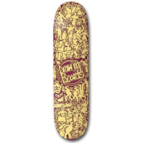 Drawing Boards Ten Years Crowded Skateboard Deck - 8