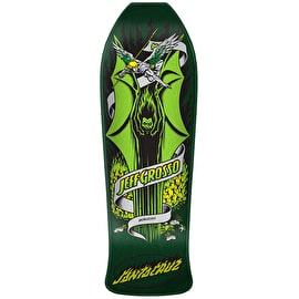 Santa Cruz Grosso Demon Reissue Skateboard Deck - Green Candy Metallic 9.98