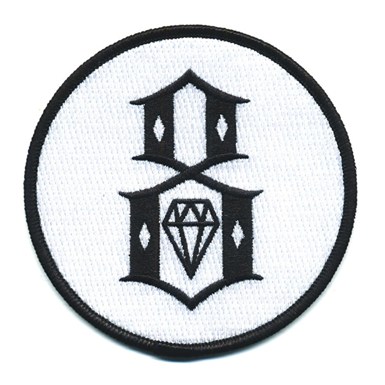 Rebel8 Circle 8 Patch - White