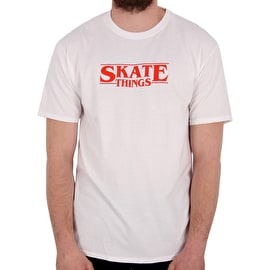 SkateHut Skate Things Limited Edition T shirt - White/Red