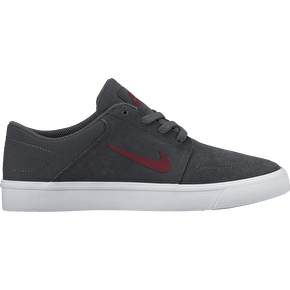 Nike SB Portmore Kids Skate Shoes - Anthracite/Team Red