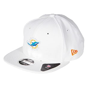New Era 9FIFTY Miami Dolphins Border Edge Pique Cap - White