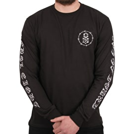 Rebel8 Trust No One Long Sleeve T shirt - Black