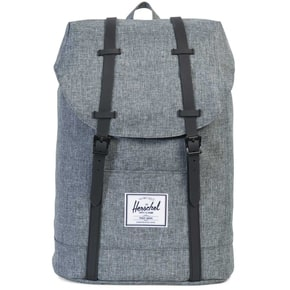 Herschel Retreat Backpack - Raven Crosshatch/Black Rubber