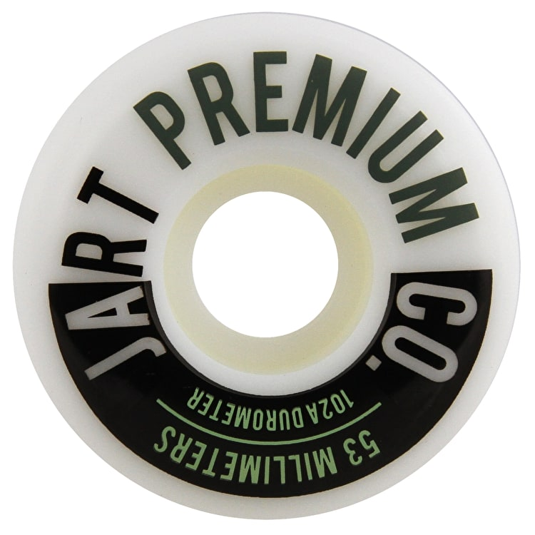 Jart Analogic 102a Skateboard Wheels - Green 53mm