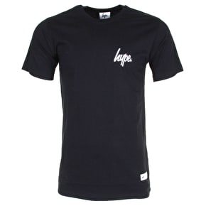 Hype Mini Script Logo T-Shirt - Black/White