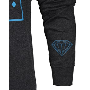 Diamond Outline Crewneck - Charcoal Heather