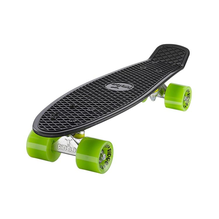 "Ridge 22"" Mini Retro Complete Cruiser - Black/Green"