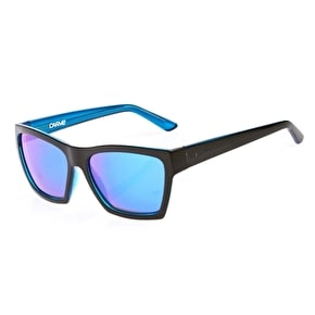 Carve Hostile Polarized Sunglasses - Black/Blue Revo