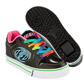 Heelys Motion Plus - Black/Hot Pink/Rainbow